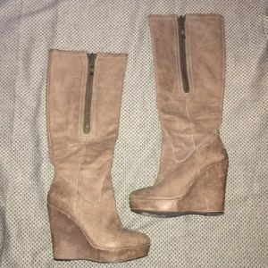 STEVEN BY STEVE MADDEN Distressed Leather Boots